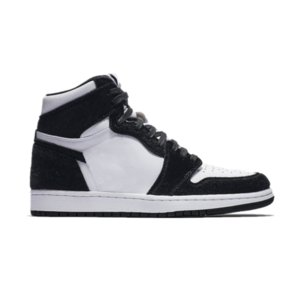 Panda 1 alta 1s Scarpe da pallacanestro bianche nere TOP Versione di alta qualità Scarpe da ginnastica da donna in vera pelle per uomo Nuove sneakers 2019