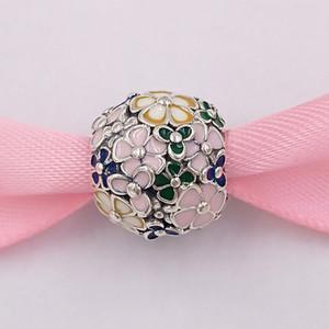 « Authentiques 925 perles en argent sterling classique fleur Charms Charm arrangement Fits bijoux européens Style Pandora Bracelets Collier 797907