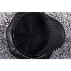XdanqinX 2019 New Autumn Winter Women's Hat Genuine Leather Sheepskin Newsboy Caps Elegant Lady Beret High Quality Female Cap