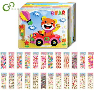 15Pcs lot 3D EVA Foam Sticker Puzzle Game DIY Cartoon Animal Learning Education Toys Cartoon anime stickers For Children YJN