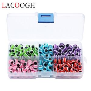 Venta al por mayor 250 unids / caja Ronda Evil Eye Beads Fit Bracelet Necklace Dia 8mm Loose Resin Spacer Beads para DIY joyería que hace