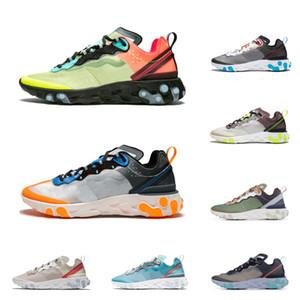 nike React Element 87 shoes Reagir Elemento 87 homens mulheres moda runining sapatos volt racer rosa total laranja sail designer Sneakers esporte Trainer tamanho 36-45