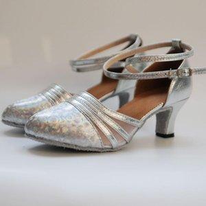 Hot Sale Women's Girls Ballroom Latin Tango Dance Shoes Heeled 7cm   5cm Sales Silver Gold Black Brown Color Wholesale #4