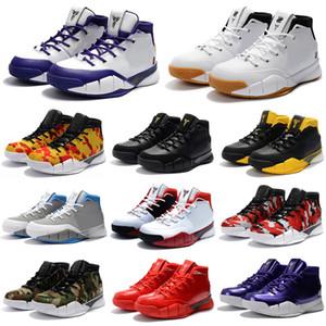 2019 Erkekler 1 Protro Basketbol Ayakkabı Yakın Out Yenilmez Pheonix TV PE 13 Mamba Günü UND 1S Spor Eğitmeni Sneakers 40-46