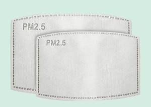PM2,5 Masque Cleanerzoomer Masque de remplacement Maks Filtres de respiration Insert anti-poussière brouillard masque bouche Fliters masques bouche papier