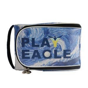 Golf Shoe Boot Bag W  Side Pockets & Golf Club Zipper Football Shoes Carrier