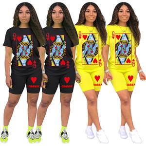 Mulheres designer de S-3XL mais t-shirt tamanho calções fatos de treino 2 peça conjuntos imprimir verão roupa casual gola manga curta capris DHL 3414