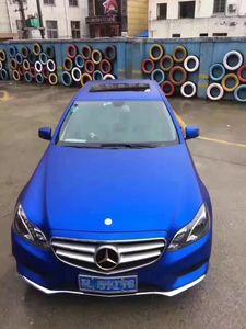 Mavi Metalik Mat Vinil Wrap Araç Wrap ile Hava Kabarcık Ücretsiz Krom Mat Vinil Film Mavi Saten Filmi Araç Kaplama Sticker Folyo