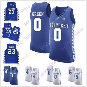 Kentucky Basketbol Jersey Koleji Bam Adebayo De'Aaron Fox Shai Gilgeous-Alexander Cemal Murray Karl-Anthony Towns John Wall Rajon Rondo