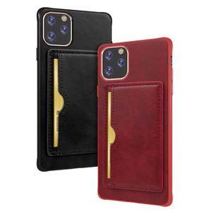 Premium-PU-Leder-Handy-Fälle für Iphone 11 Pro Max XS Xiaomi MI9 Huawei P30 Mate-20 Pro-Magnetkarten-Halter-Kasten
