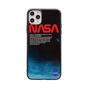 우주국 NASA 케이스 아이폰 11 프로 맥스 XS 최대 XR X 8/7 플러스 8plus 백업 된 커버 커플 소프트 실리콘 전화 케이스