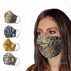 Пылезащитный 3D Leopar печатное Face Mask Хлопок Ткань Sunproof противотуманным Haze Mouth маски
