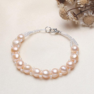 Fashion Charm Crystal Rhinestone Pearl Beads Bracelet Cuff Chain Women Jewelry