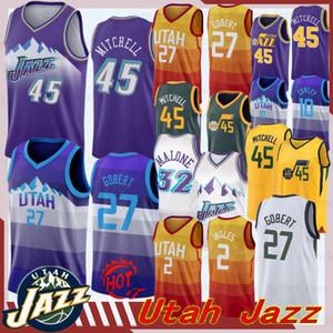 jerseys Donovan 45 Mitchell Jersey jazzes NOVO Mike Conley 10 Rudy 27 Gobert Ricky Rubio 3 NCAA Men Utahs Retro