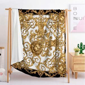 diseño de lujo manta de tiro linda manta de dormir de franela manta sofá recorrido solo ropa de cama doble grande (BCW49)