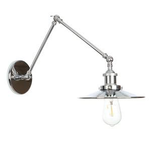 Lampade da parete di alta qualità Sconce Loft Cromato bagno luce della lampada da parete moderna del metallo Camera Comodino Sconces non risveglio