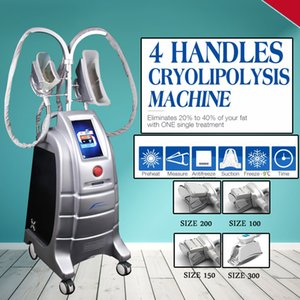 2019 4 Handpieces récent Gel Cryolipolysis Fat cryothérapie perte de poids à vide Beauté Poignées Cryo machine
