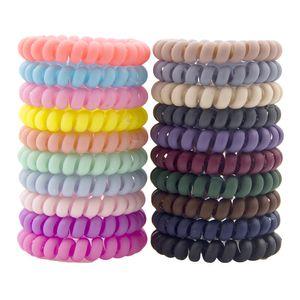 10pcs / set Spiral Şekil Saç Kravatlar taşlanmış Elastik Saç Bantları Kız Aksesuarlar Lastik Bant Şapkalar Sakız Telefon Tel Saç Halat M928