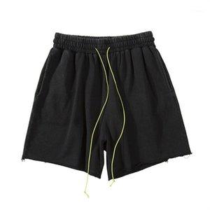 Pantalones cortos para hombre verano Desigenr pantalón corto para hombre flojo Outdoor Running Entrenamiento Baloncesto Pantalones Casual contraste Streamer