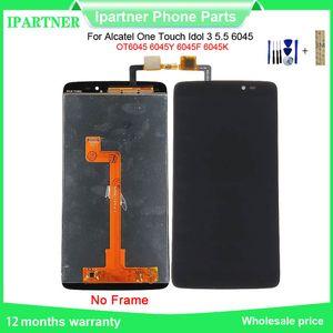 Для Alcatel One Touch Idol 3 5,5 6045 OT6045 6045Y 6045F 6045K ЖКА-экран сенсорного экрана Digitizer Ассамблеи с инструментами