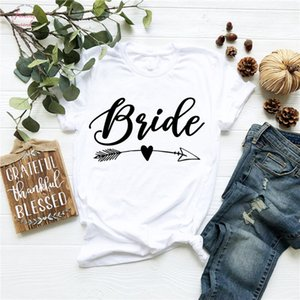 Bride Squad Arrow Heart Squad Couple Bachelorette Bride Party Vogue T Shirt Slogan Hipster Tops Girls Squad Tees Camiseta Mujer