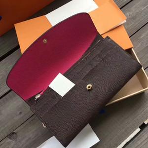 Европейский американской моды женщин держателем кредитной карты кожаный бумажник Emile Высокое качество портативный Белый Розовый кошелек с сцепления Упаковочная коробка
