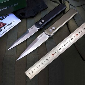 Protech el padrino 920 de cuchillo automático navajas de bolsillo cuchillo floding autodefensa caza cuchillos tácticos de la manija del CNC 6061-T6 aluminio de la aviación
