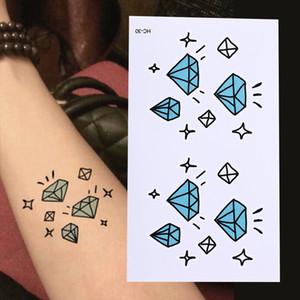 Водонепроницаемый Временные Татуировки Алмаз Звезды Татуировки Хной Поддельные Флэш Татуировки Наклейки Татуировки Татуировки Татуировки 10.5x6 см