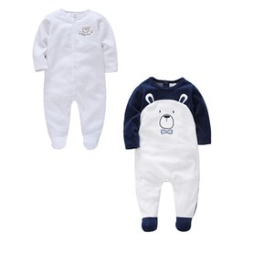 Honeyzone 2pcs Set Newborn Baby Clothes Infant Cute Bear Romper Full Sleeve Mamelucos Para Garcon Jumpsuit Cotton 0-12m