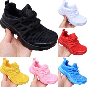 With Box 2020 Presto Kids Mesh Breathable Running Shoe Originals Presto Kid Buffer Rubber Built-in Zoom Air Cushioning Jogging Shoes