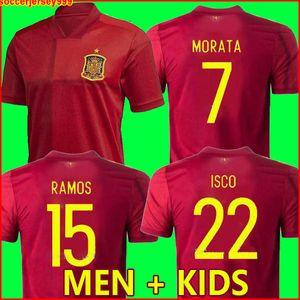 Испания футбол майка 2020 евро кубок Camiseta de futbol chandal ASENSIO MORATA футболка ISCO RAMOS INIESTA майка де ноги Мужчины + Детский комплект