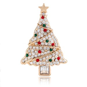 Fashion-selling clothing and accessories in Europe and America Creative Christmas tree Brooch