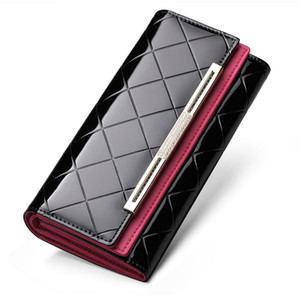 Women Genuine Leather Wallet Luxury Luxury Design Geometric Wallet Purse Cluthes NF58039
