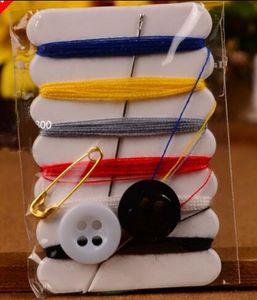 1000set / lot mini kit da cucito / travel kit da cucito ricamo ad ago sei fili per cucire kit rammendo Kit
