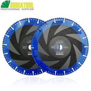 SHDIATOOL 2pieces Dia 230mm 9inch one for all Diamond cutting Disc Multi-Purpose Demolition saw blade for granite or concrete or marble