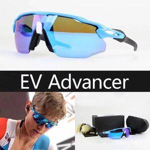 New Radar EV Advancer OO9442 óculos óculos esportes ao ar livre para mulheres homens moda óculos de sol andando óculos Ciclismo Eyewear 4 lente