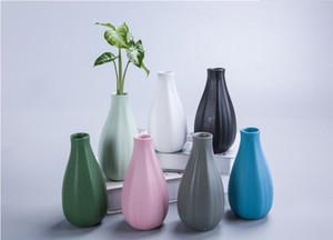 vaste artisanat poterie noire domestique fond de la poterie noire diameter7CM petite fleur décoration en céramique mise en œuvre Inser de fleurs sept couleurs