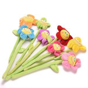 1 Parte Cortina cartoon girassol Plush flexível Tieback Plush Toys Lovely Home Dcor presente Meninas