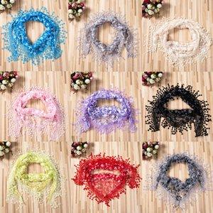 Более 100 продаж кружева Sheer цветочный принт Церковь Мантилья шарф шаль обернуть кисточкой легко соответствующие Осень Зима шарфы аксессуары