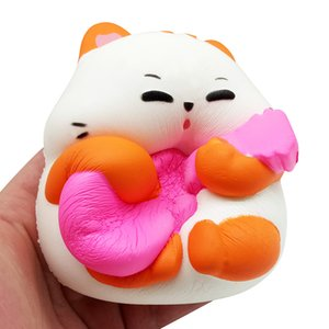 Squeeze simulation Guitar cat Slow Rising Kid gift Decompression Toys Easter Gift Phone Strap Adult Healing toys L0116