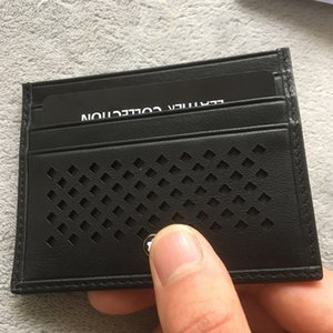 صور حقيقية حامل البطاقة أسود جلد طبيعي حامل بطاقة الائتمان الأعمال البسيطة محفظة بطاقة الهوية حالة عملة محفظة الأزياء جيب حقيبة للرجل
