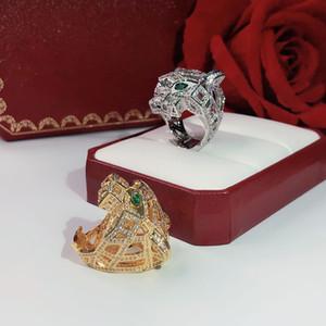 Набор в drillneutral Leopard голову кольцо Trend высокого класса Продаем хорошо Мощный механический леопард кольцо Бесплатная доставка медный материал Неутра