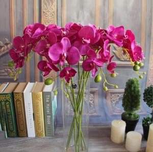 Новый дизайн 78см / 30,7 PU Phalaenopsis Real сенсорный Бабочка Орхидея Поддельные Орхидеи Искусственный цветок орхидеи для украшения свадьбы