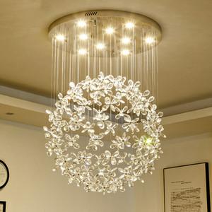 iluminación de la lámpara de cristal de lujo para la sala de estar grandes lámparas de mariposa para el hogar lámparas de cristal modernas