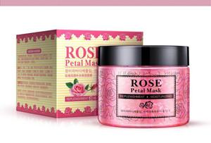 DHL 10 unids NUEVOS pétalos de rosa Hidratante mascarilla nutritiva Piel de elevación Mascarilla Brillante Pétalos de arcilla Máscaras para dormir Tratamiento Máscara negra