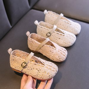 New girls' princess shoes spring summer 2020 Korean version lace breathable soft-soled Infant walking shoes Toddler Casual First shoes S076