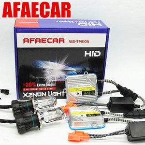 AFAECAR 바이 제논 H4 크세논 키트는 하이 소호는 H4 비스무트 크세논 전구 교체 헤드 라이트 4300K 6000K 8000K H4-3 램프 HID