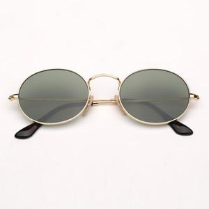 إمرأة عدسات مستديرة النظارات الشمسية موضة النظارات الشمسية الرجال نظارات شمسية نظارات البيضاوي مع حماية UV400 وحقيبة جلدية