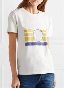 Designer de luxo Womens Camiseta Caráter pequeno Logo impressa de manga curta Tops Marca Mens Shirts Verão Designer Mulheres Tees