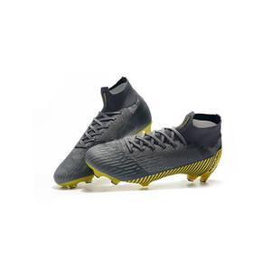 İleri teknoloji örme yüzey su geçirmez FG açık ayakkabılar suikastçı 2019 yeni erkek futbol ayakkabıları, viskoz eğitim ayakkabı Doğrudan satışlar,